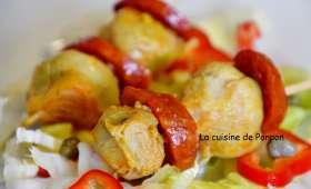 Brochettes de chorizo et artichaut