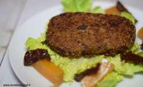 """""""Steak végétal"""" quinoa et haricots rouges"""