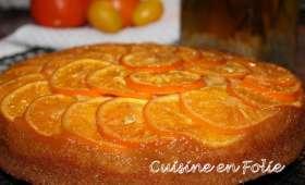 Upside-down cake aux oranges sanguines