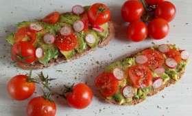 Les tartines colorées et healthy