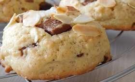 Cookies chocolat au lait et amande