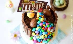 Gravity cake aux oeufs de Pâques
