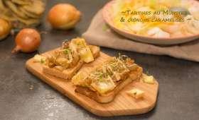 Tartines au munster et oignons caramélisés