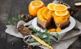 Entremets orange chocolat