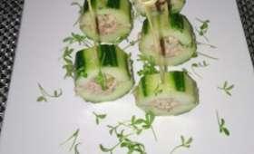 Sucette de concombre au thon