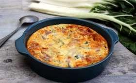 Flan aux blettes et jambon gratiné au parmesan