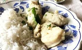 Cocotte de lotte au curry vert thaïe