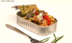 Torti aux légumes confits et sardines.