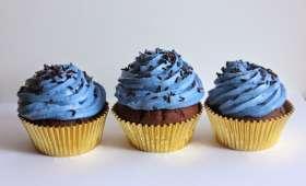 Cupcakes chocolat vanille et caramel au beurre salé