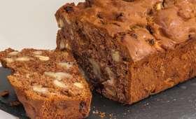 Cake bananes, chocolat et fruits secs