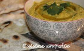 Tartinade de courgettes, curry et coriandre