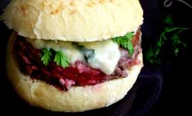 Hamburgers maison au roquefort