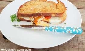 Croques façon pain perdu aux tomates cerise et mozzarella