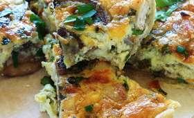 Tarte au poulet, champignons et fromage