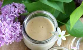 Crème à la vanille au caramel et lait d'amandes