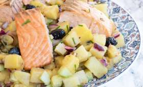 Salade pommes de terre saumon