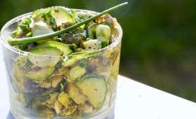 Salade de fèves et légumes