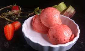 Sorbet fraise-rhubarbe au Thermomix