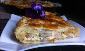 Tourte au poulet et champignons de Cyril Lignac