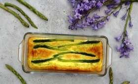 Clafoutis aux asperges vertes et parmesan