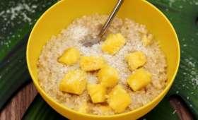 Porridge façon Piña colada
