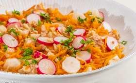 Salade de carottes aux deux radis et au thon