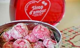 Amaretti à la rose et sirop d'amour