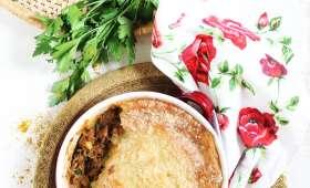 Hachis parmentier de thon à la sauce tomate parfumé au ras el hanout