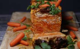 Gâteau de carottes au lard et aux herbes