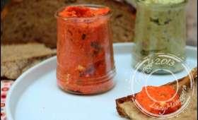 Tartinade de poivrons grillés et chèvre frais