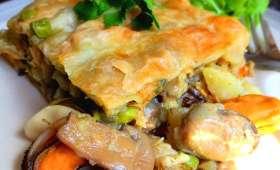 Tarte aux moules et au curry