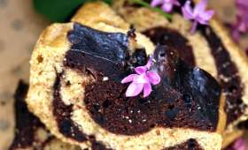 Cake marbré à la vapeur douce
