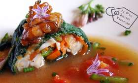 Couteaux aux Petits Légumes, Bouillon Aka-Miso