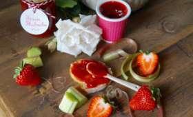 Confiture fraise rhubarbe