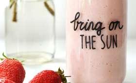 Milkshake fraise et banane