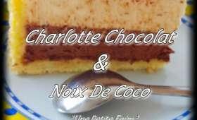 Charlotte au chocolat et noix de coco