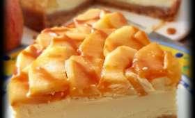 Cheesecake aux pommes et son caramel au beurre salé
