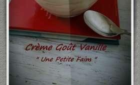 Crème goût vanille