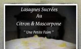 Lasagnes sucrées au citron et mascarpone