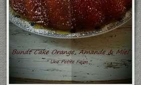 Bundt cake orange, amandes et miel