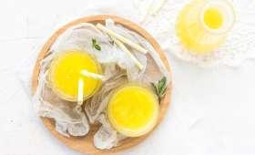 Jus détox à l'ananas et eau de coco, gingembre, menthe & citron vert