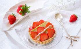 Tarte à la rhubarbe et à la fraise