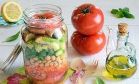 Salad Jar tomates poulet pois chiches