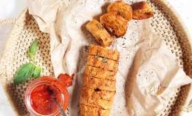 Baguette sauce tomate cerise, oignon et basilic