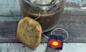 Ile flottante chocolat Earl Grey et biscuits Earl Grey