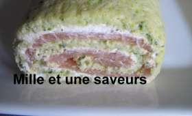 Roulé au saumon et courgettes