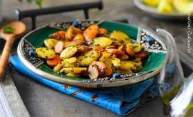 Carottes a la poele a la persillade, recette facile et rapide