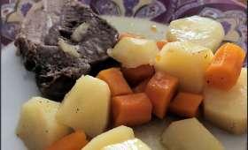 Rôti échine de porc et ses légumes