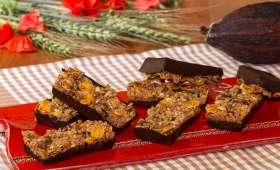 Barres de céréales au muesli et chocolat