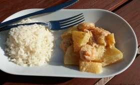 Crevettes à l'ananas
